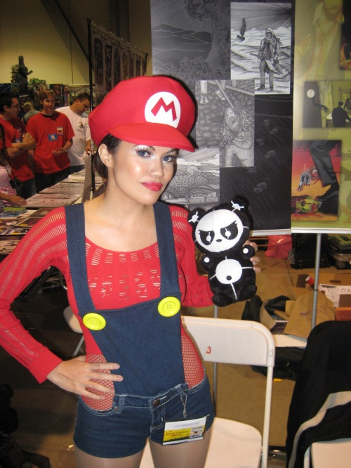 Angry Panda and Super Mario